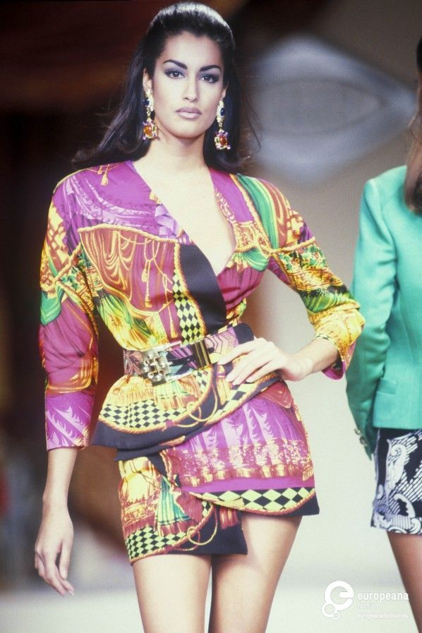 Gianni versace spring summer 1991 couture versace hc s s 1991 pinterest - 80er damenmode ...
