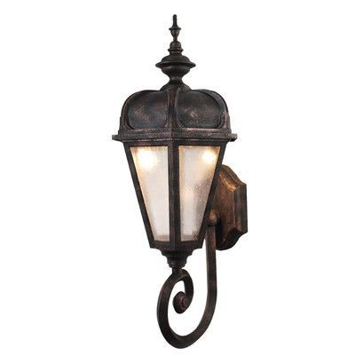 Charlton Home Flannigan 1 Light Outdoor Sconce Finish Architectural Bronze Bulb Type 100w Incandescent Outdoor Sconces Outdoor Wall Lantern Sconces