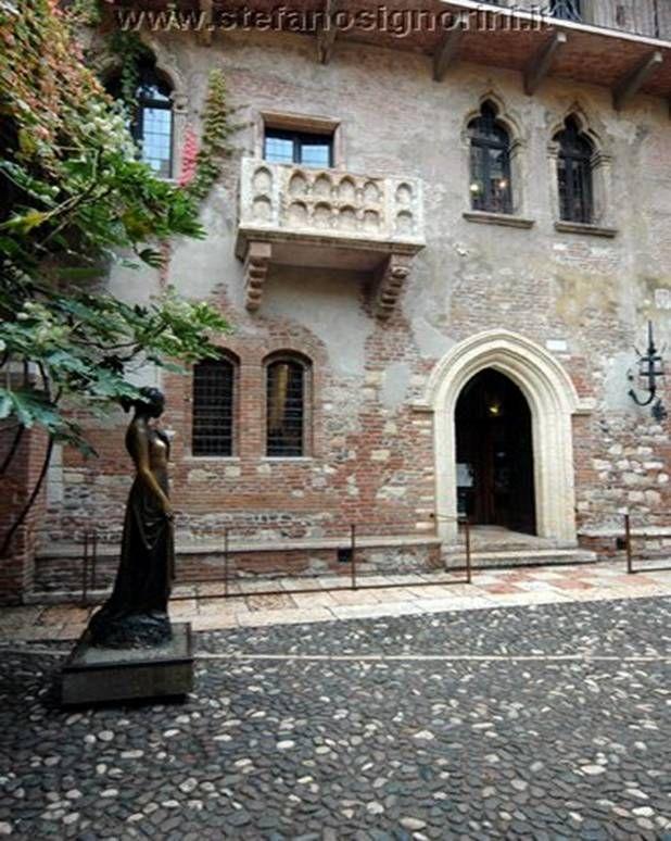La casa de Julieta, Verona, Italia Italia, Verona, Casas