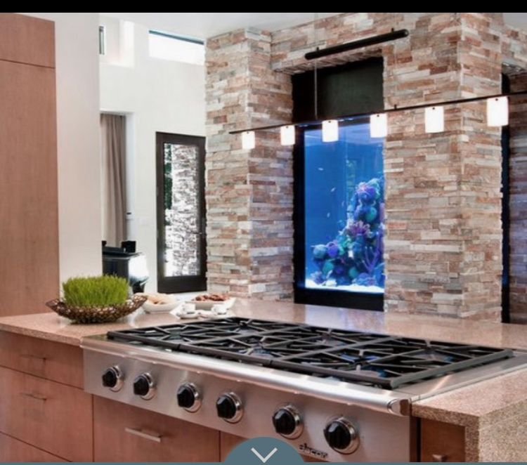 Pin By Shelly Waite On Fish Tanks Home Aquarium Design Small Kitchen Backsplash