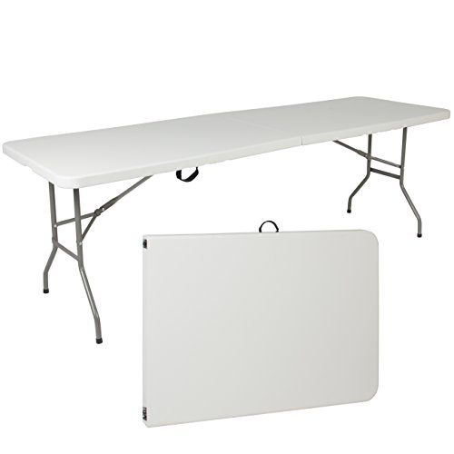 Best Choice Products 8ft Indoor Outdoor Portable Folding Plastic Dining Table For Backyard Picnic Party Ca Folding Table Outdoor Folding Table Camping Table