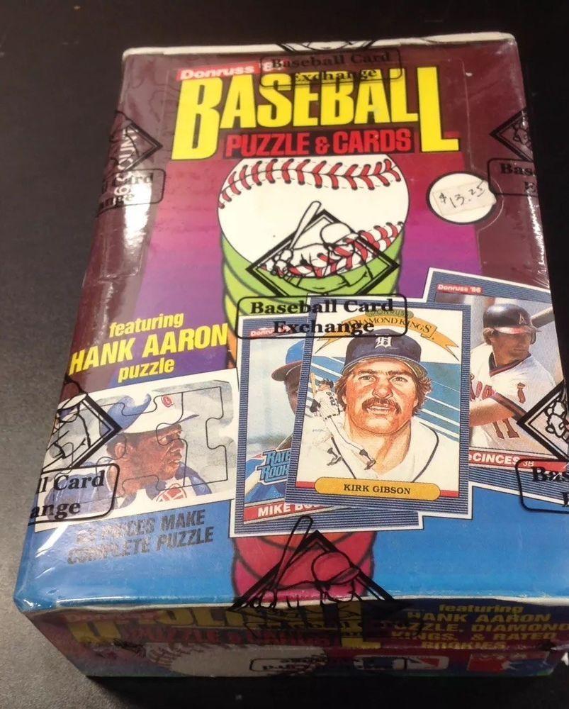 1986 Donruss Baseball Unopened Wax Box (BBCE Wrapped