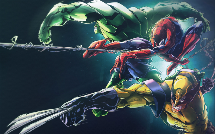 Fondos de pantalla de spiderman hulk