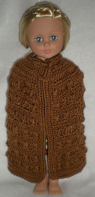 1ravelry Cloak For Ag Or Other 18 Doll Pattern By Pat Ford