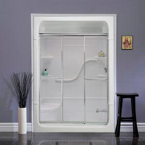 mirolin 3 panel shower door | tub shower doors, shower