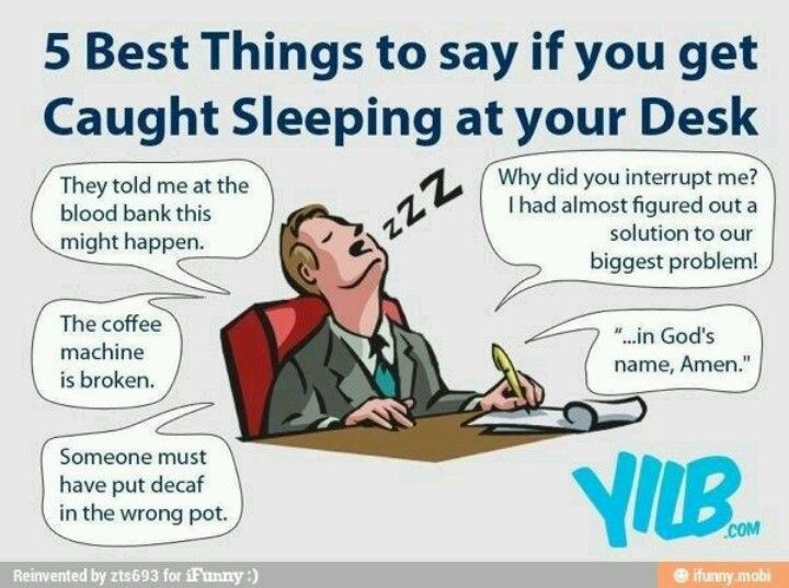 If You Get Caught Sleeping At Your Desk Humor Work