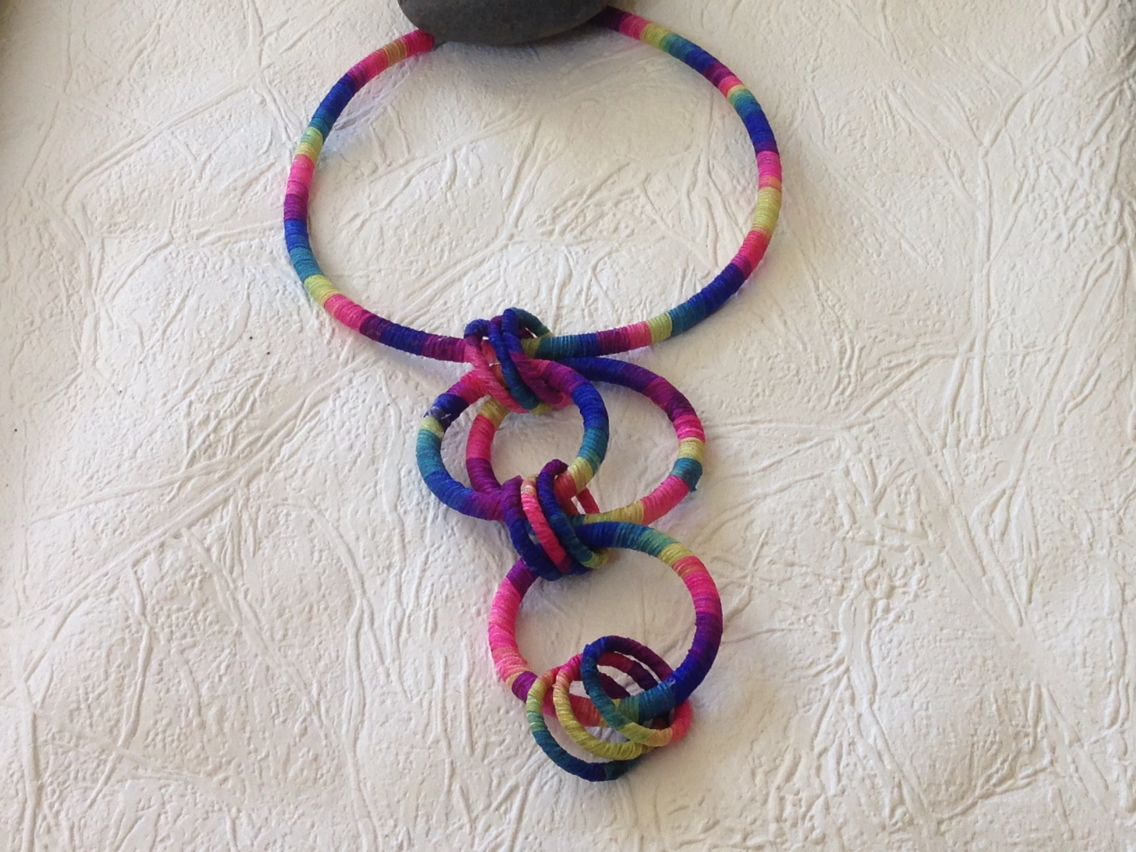 Wrapped silk yarn