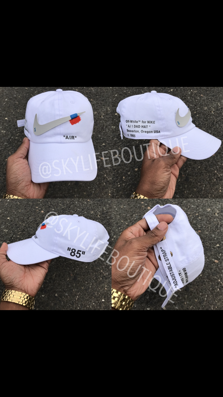 2da01359ba449 Pin by SkyLife Boutique on Custom Off white hats in 2019