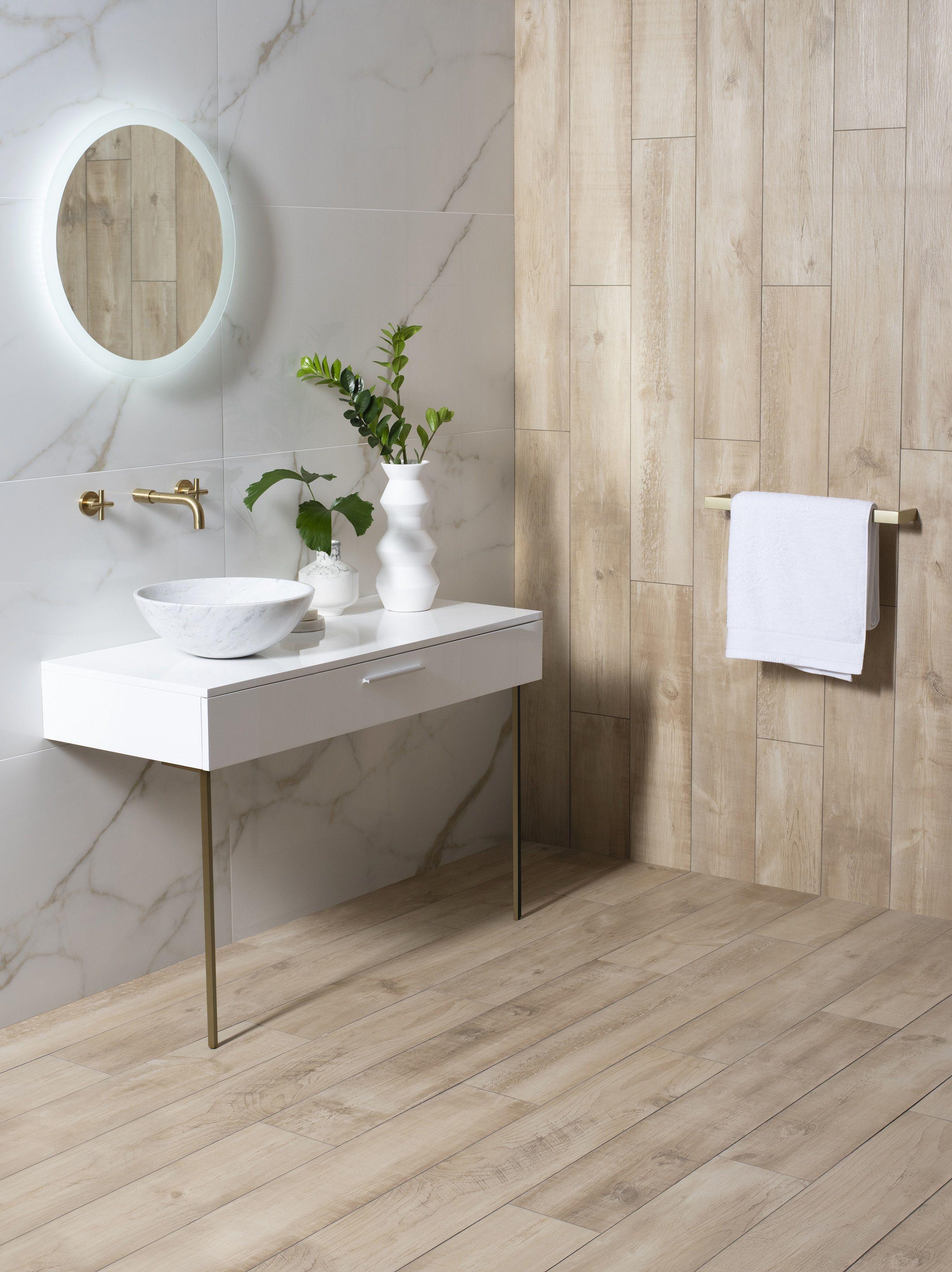 wood effect tiles wood tile bathroom