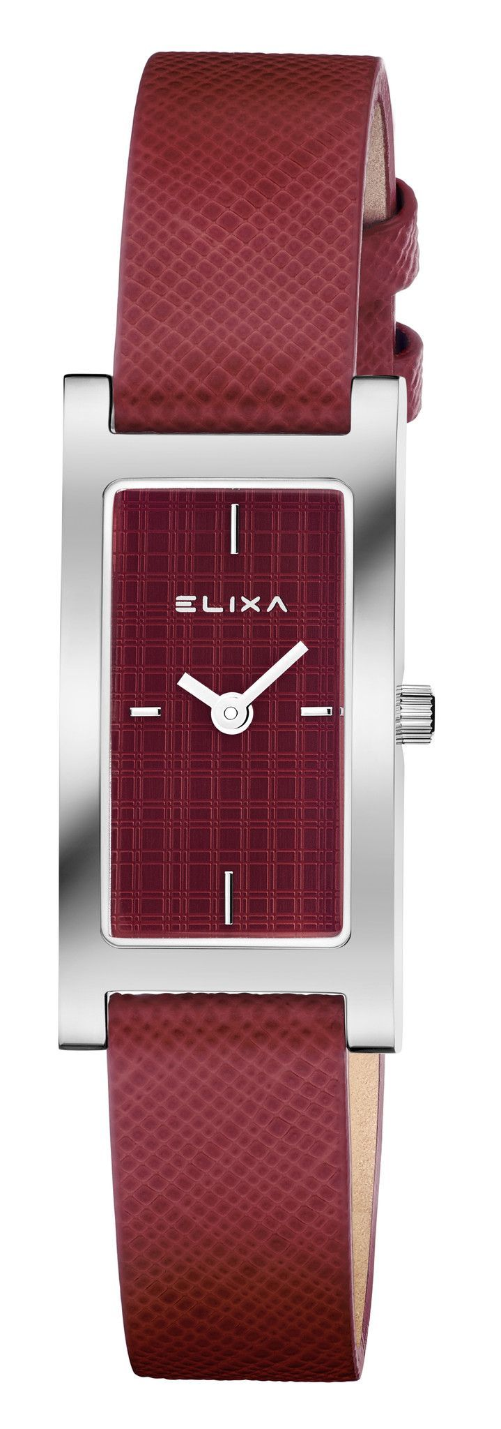 100% Authentic with 2-Year Elixa Backed Warranty Included. Item Elixa Women's Watch Model # E105-L421 Collection Finesse Case Rectangular Stainless Steel Case Back Snap-Down Stainless Steel Bezel Fixe