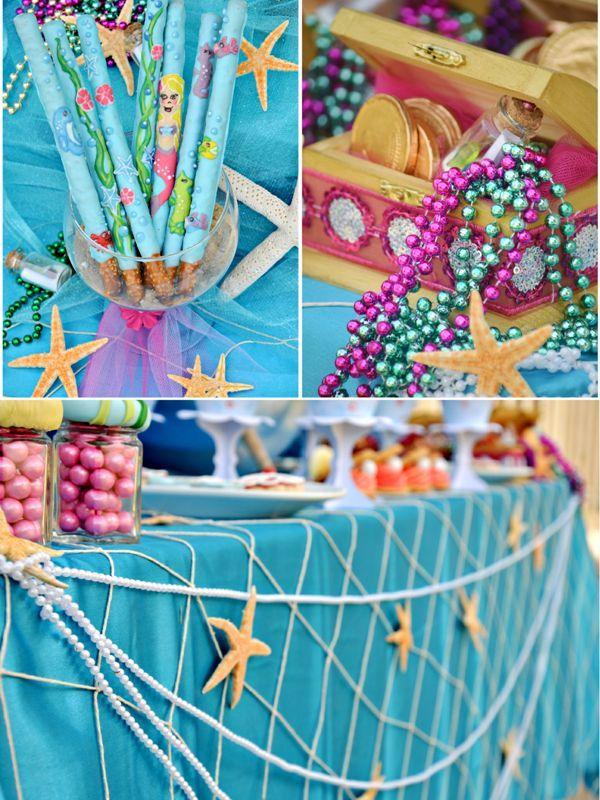 Under The Sea Mermaid Birthday Party Con Imagenes Fiestas De