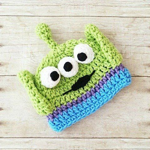 77354f56b6b6f Crochet Baby Alien Hat Beanie Toy Story Buzz Lightyear Woody Jessie Newborn  Baby Infant Handmade Photography Photo Prop Baby Shower Gift