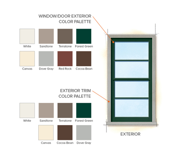 From Andersen Windows Home Style Library Ranch Exterior Colors