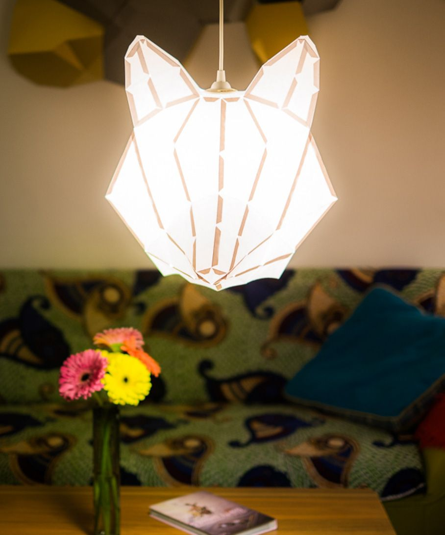 Fox Lamp for Bedroom 2 | Home Inspiration | Pinterest | Foxes ... for Creative Paper Lamps  54lyp
