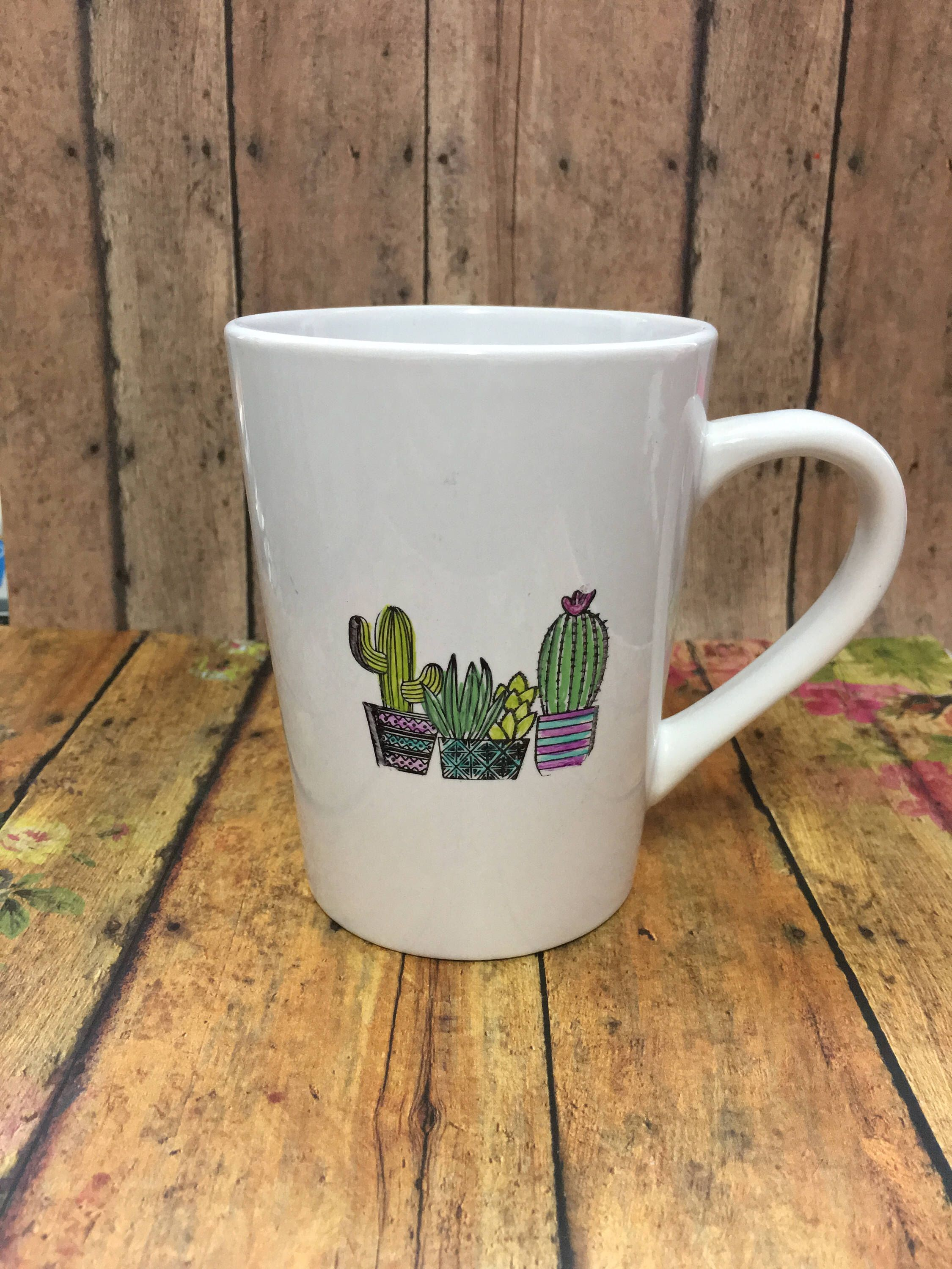 A personal favorite from my Etsy shop https://www.etsy.com/listing/536441936/cactus-coffee-mug-coffee-mug-adorable