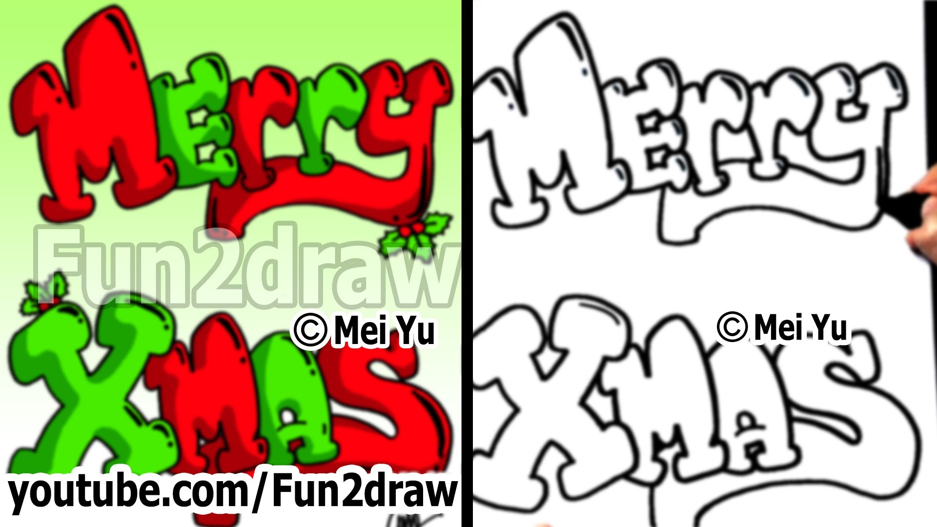 Christmas Graffiti Letters.Pin On Holiday S Etc