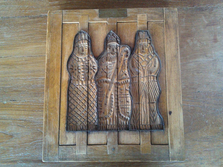 oude Sinterklaas speculaasplank -  Alte St Nikolaus spekulatiusbrett - old St Nicholas cookie mold (Nederland - Netherlands - Niederlande)
