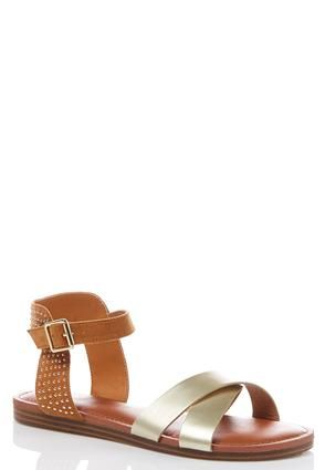 012bee3231d Cato Fashions Embellished Two-Tone Sandals #CatoFashions | Shoes We ...