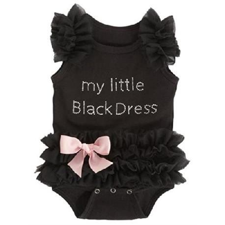 My Little Black Dress Baby Girl Bodysuit by KiKiiGlitterandGlam