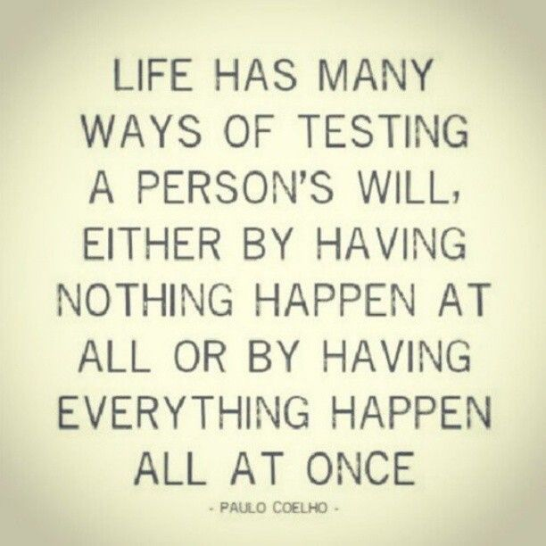 Life Has Many Ways Of Testing A Persons Will Quotes Quote