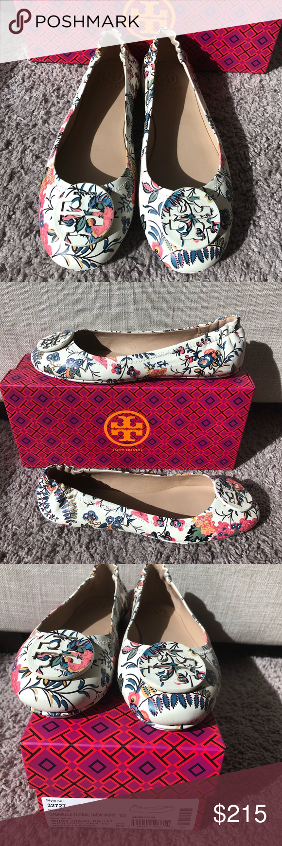 adb2ba8cad9 Tory Burch Minnie Travel Flats Gabriella Floral Tory Burch Minnie travel  ballet flats in sold out