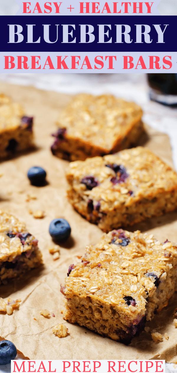 Clean Eating Blueberry Oatmeal Breakfast Bars Gluten Free Vegan Recipe In 2020 Blueberry Breakfast Bars Gluten Free Breakfast Bars Breakfast Bars Recipe