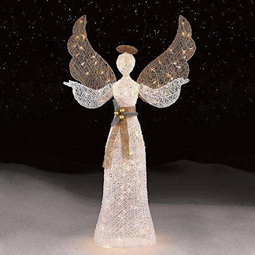 holiday lighted outdoor christmas decoration xmas yard 56 150ct white angel you can find more details by visiting the image link - Lighted Angel Outdoor Christmas Decorations