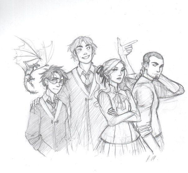 The Triwizard Champions by drakonarinka on DeviantArt