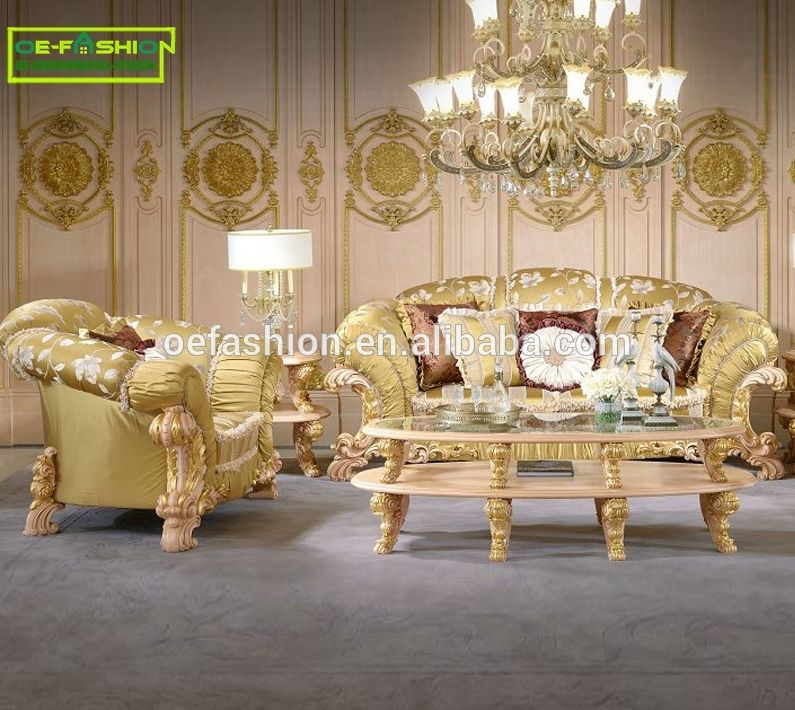 Oe Fashion Luxury Italy Style High Grade Fabric Gold Wooden Sofa Furniture View Wooden Sofa Furniture Oe F Sofa Furniture Luxury Sofa Design Furniture Styles