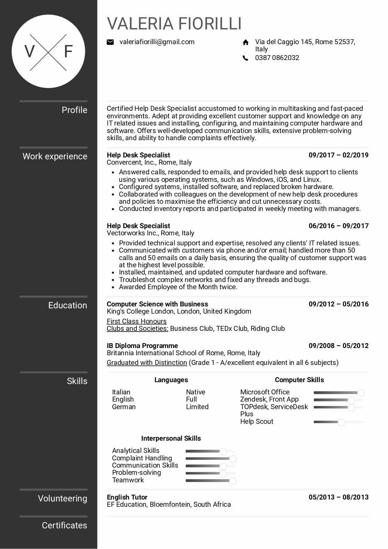 Help Desk Resume Examples Inspirational Resume Examples by