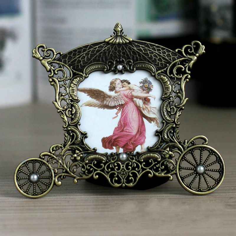 3 inch retro Metal vintage picture frames classic picture photo ...