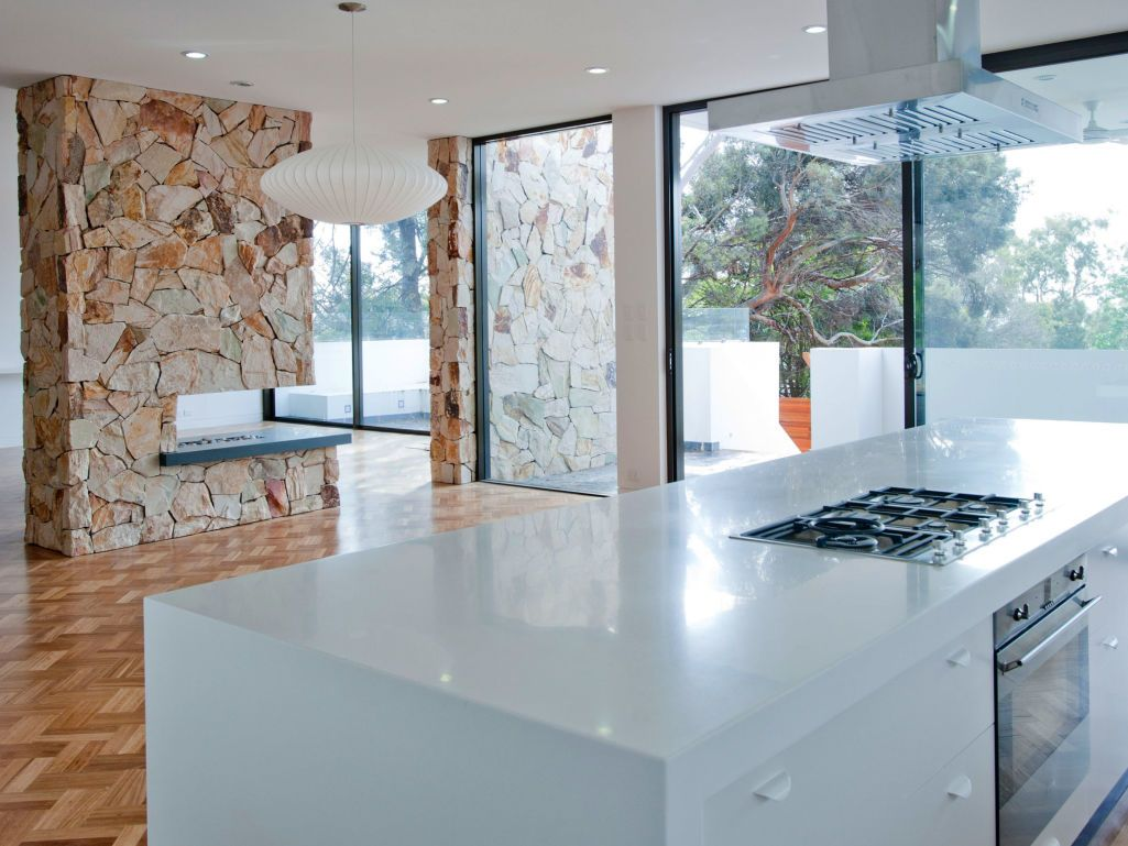 Free form sandstone natural interiors | Shelving, Sandstone wall and ...