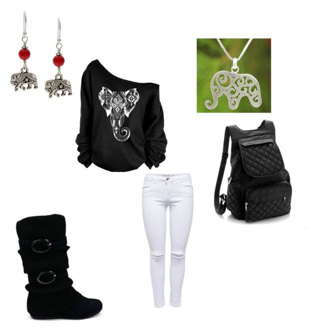 """""""Elephant for the Fall"""" by nangel-94126 ❤ liked on Polyvore"""