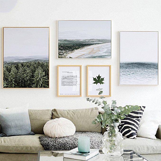 LQQGXL Nordic forest sea foto wall decorazione picture