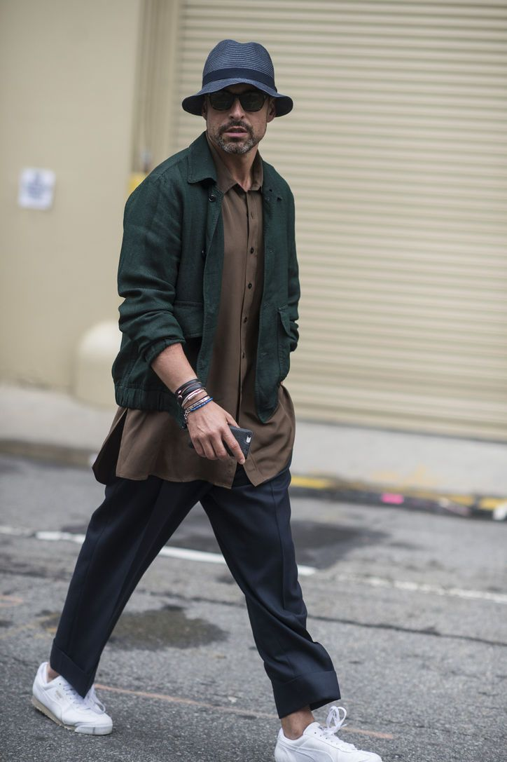 bceec922a368ac Hot Guys in Hats: Our Favorite Street-Style Looks From New York Fashion  Week: Men's