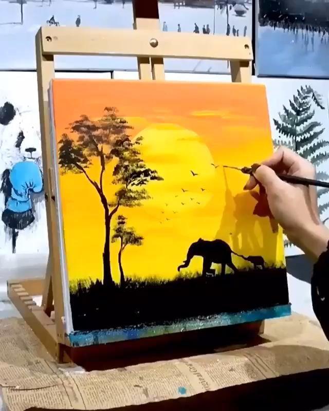Amazing Sunshine Painting Art Awesome Natural Suns