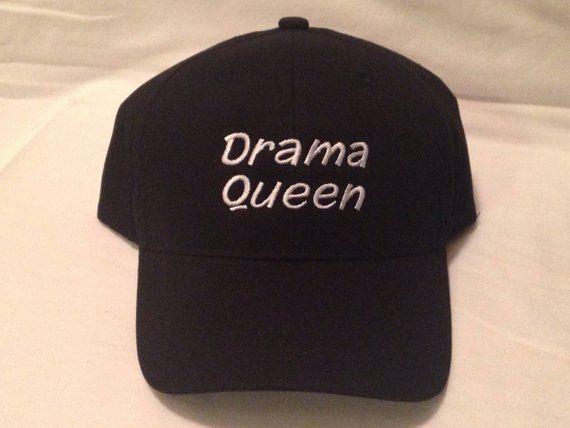 b93e1abaf04dc Drama Queen Hat Embroidered Hats Custom Embroidery Dad Hat Love hats caps  Papi Hats Embro