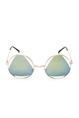 FOREVER21 Cutout Round Sunglasses #festival #boho