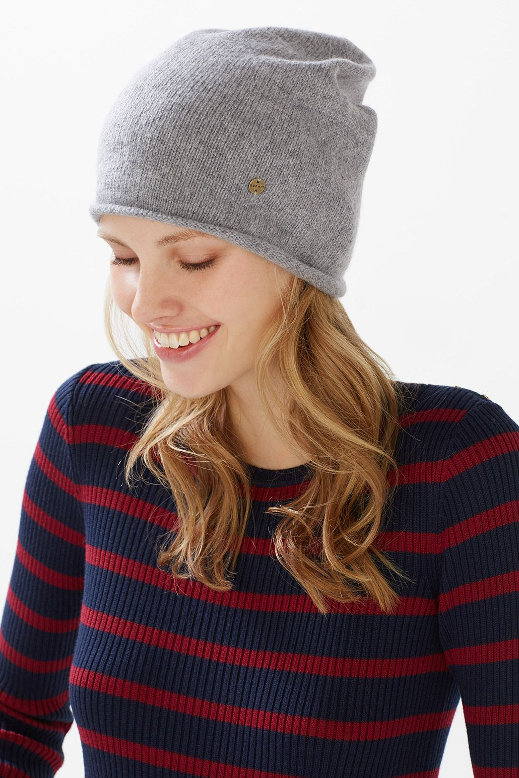 54ea8d2f8 Esprit / Knitted hat in a wool blend with mohair | Hats | Knitted ...