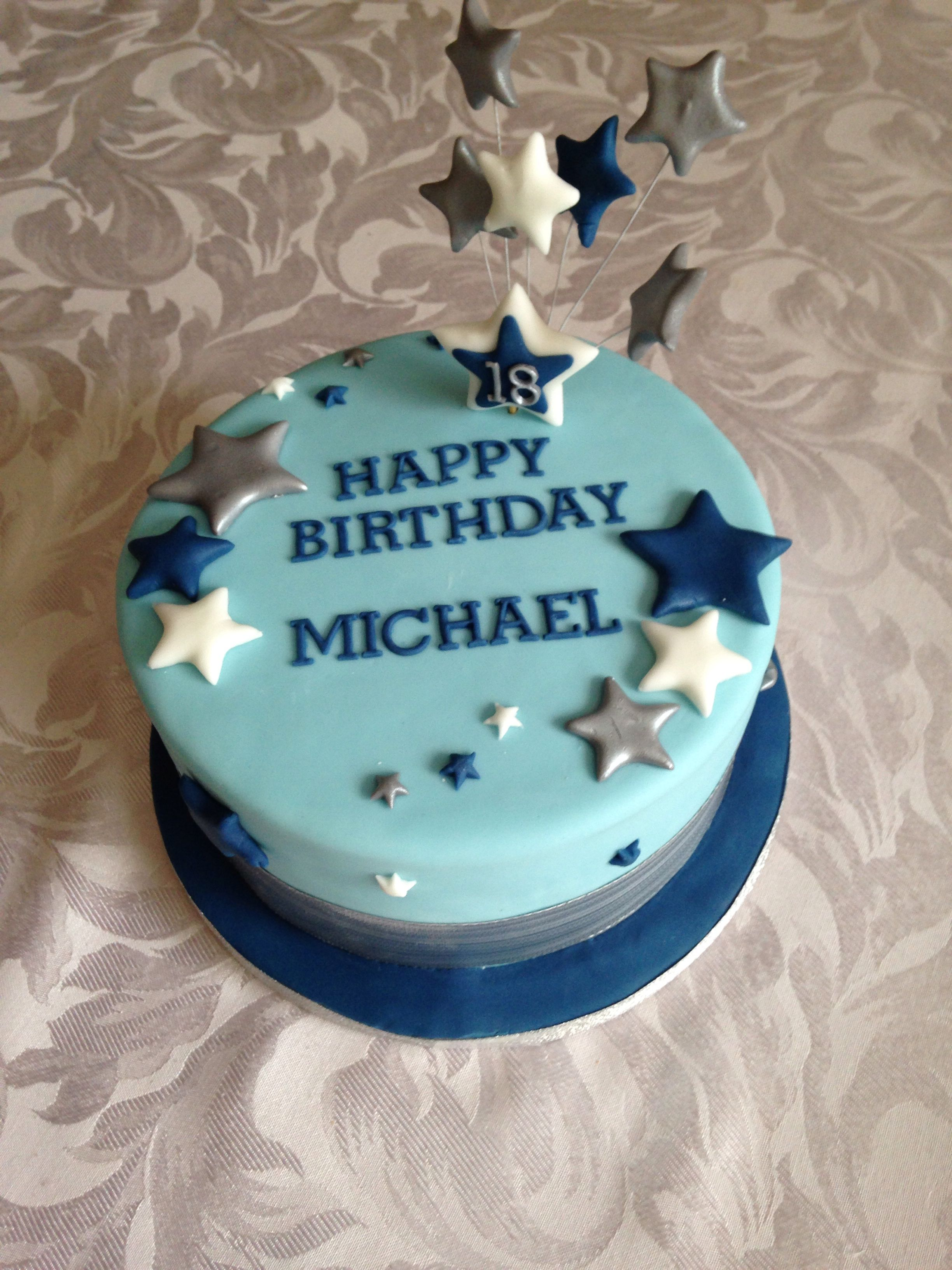 Simple 18th Birthday Cake For A Boy Birthday Cake For Him Simple Birthday Cake Birthday Cakes For Men