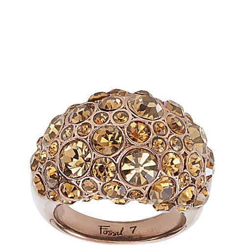 Fossil Brown Pave Dome Ring - Brown