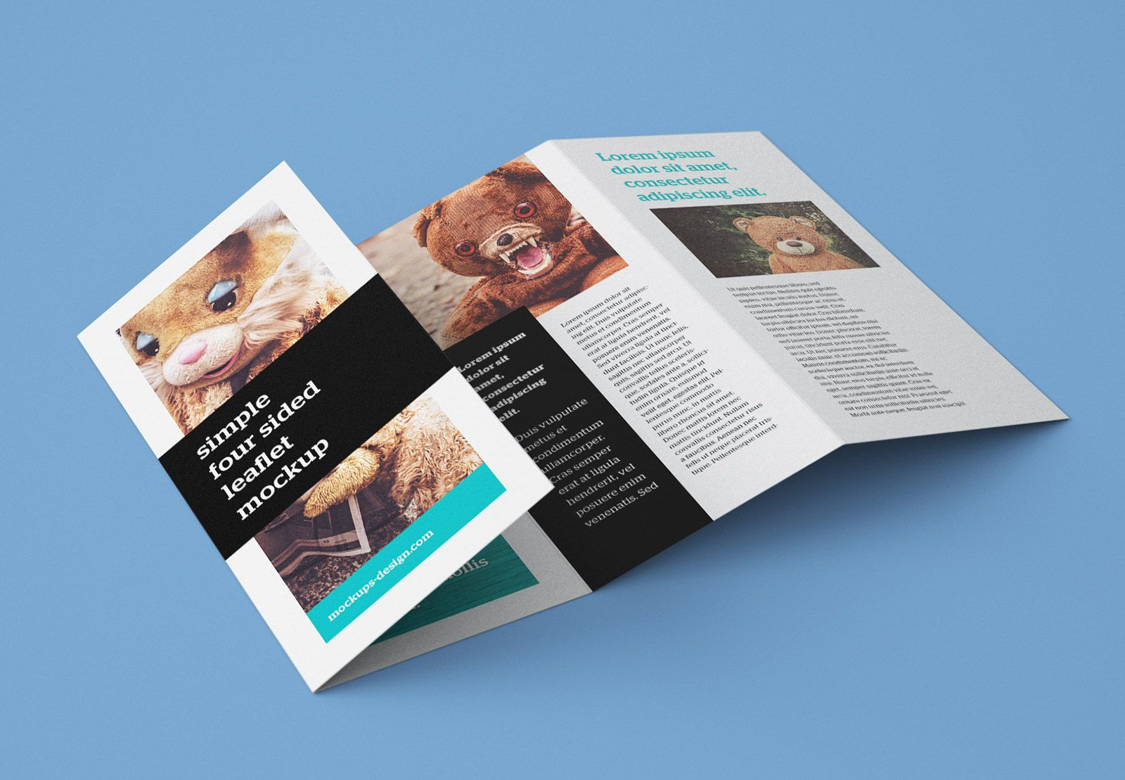 Free Accordion 4 Fold Brochure Leaflet Mockup Psd Intended For Quad Fold Brochure Template C Free Brochure Template Brochure Template Psd Brochure Template