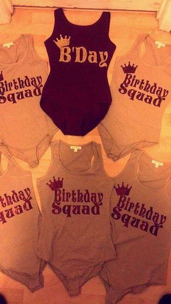 Birthday Squad Bodysuits