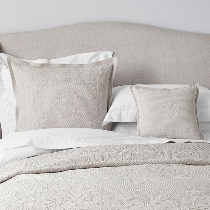 Blanc Matelassé Pillow Case Designer Couch Cushion Cover Cord Piping Solid Plain