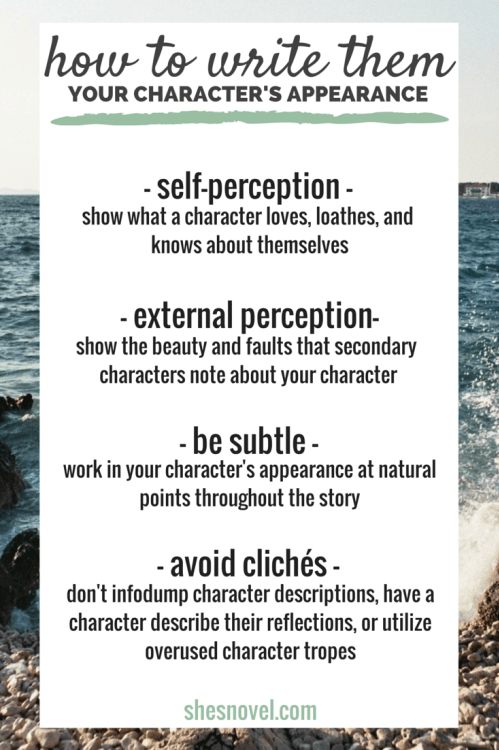 How to Capture Your Character's Appearance — Well-Storied.