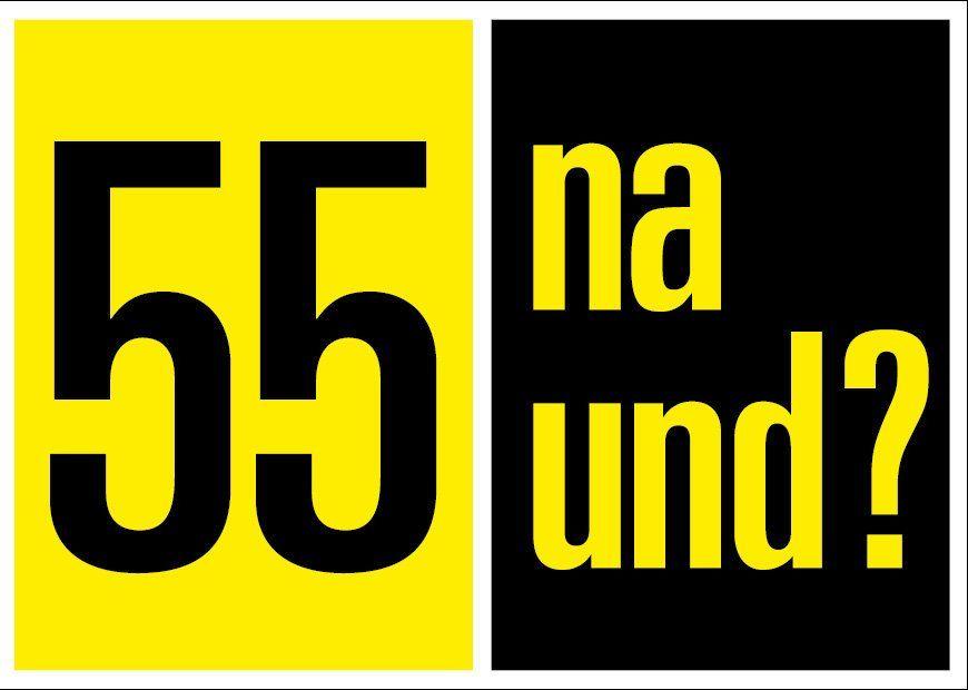 Einladung Zum 50 Geburtstag Klappkarte Im Din A6 Format Gelb