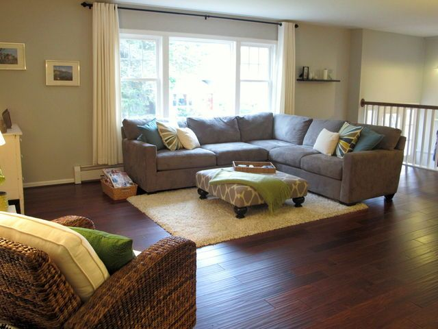 Sarah shipley burman this is your exact livingroom layout for Split entry living room decorating ideas