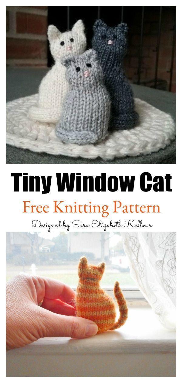 Photo of Tiny Window Cat Free Knitting Pattern #startknittingfreepattern #amigurumipatter…