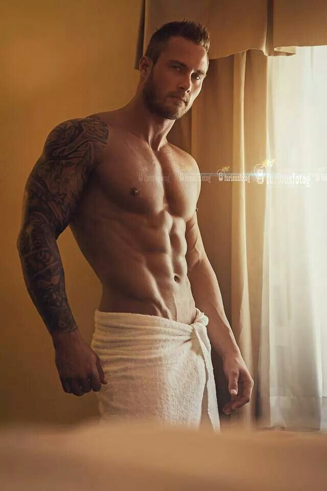 tattooed guys hot morning