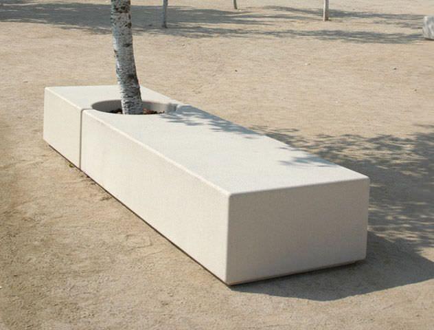 Banc public   contemporain   en pierre reconstituée   à usage